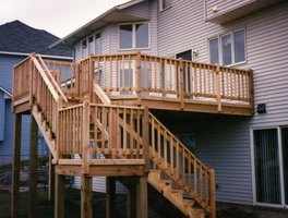 How to build a deck on the 2nd story of your house ehow for 2 story deck