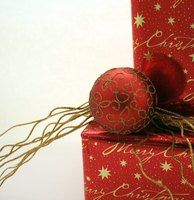 ... ornament to a wrapped present for festive packaging from secret Santa