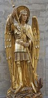 The angel named Michael first appears in the book of Daniel.