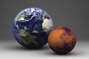 size of earth to mars - photo #24