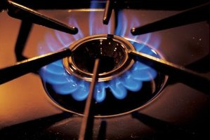 Cleaning Buildup On Natural Gas Stove Burners