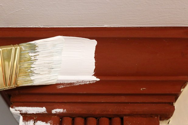 How To Paint Stained Wood Trim White With Pictures Ehow