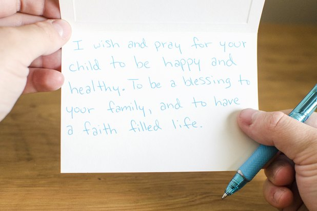 christian ideas to write in a baby shower card ehow