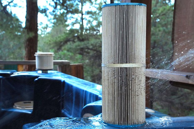 how to clean hot tub filter in dishwasher