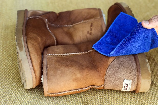 how to clean water stains from ugg boots with pictures