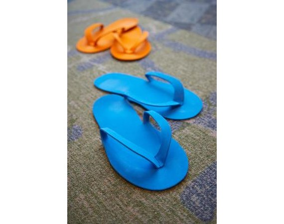 How to Decorate Flip-Flops with Old Jeans