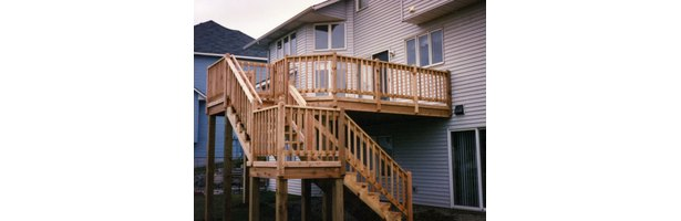 how to build a second story deck with stairs