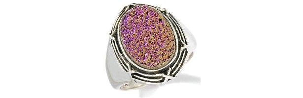 Drusy quartz ring