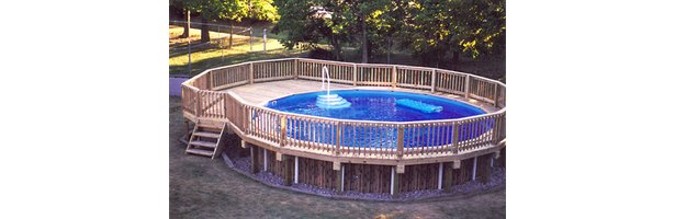How to build a deck around an above ground pool ehow - How to build an above ground pool ...