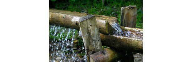 It's possible to harness water flow from house or building gutters to