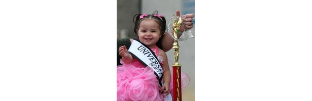 Bunches are a cute choice for younger girls in pageants.
