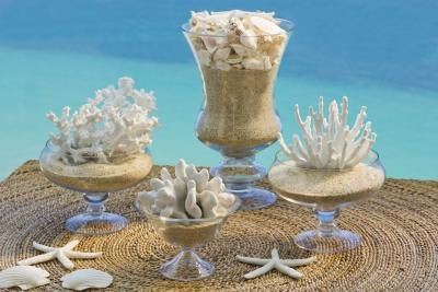 Wedding ideas seaside wedding favors beach tropical favors ocean ocean themed wedding centerpieces on do it yourself shell centerpieces ehow com junglespirit Gallery