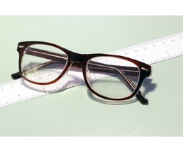 Eyeglass Measurements On Frame : How to Read Eyeglass Frame Measurements eHow