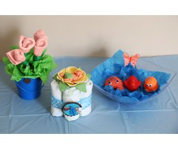 do it yourself centerpieces for a baby shower ehow
