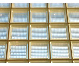 1940s living room decor ehow - Glass block windows in living room ...