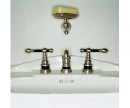 how to repair replace the drain pipes on a bathroom sink photo