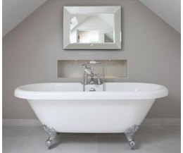 What is the average volume of a bathtub ehow for Average bathtub size