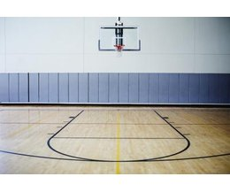 Standard basketball ring height ehow for Average basketball court size
