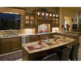 Standard kitchen countertop height with pictures ehow - Casas americanas por dentro ...