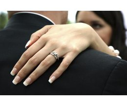 How To Wear A Wedding Band And Engagement Ring Ehow