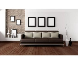 What color paint goes with brown furniture - Deco style loft new yorkais ...