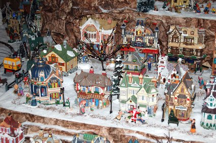 Animated Christmas Village Pieces