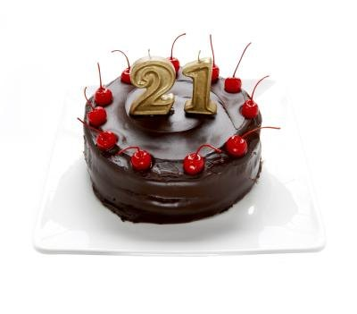 21st birthday cake.(Thomas Northcut/Photodisc/Getty Images)