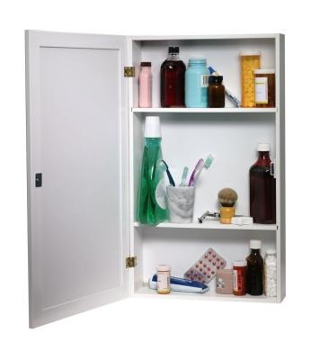how to install a medicine cabinet in a load bearing wall bathroom