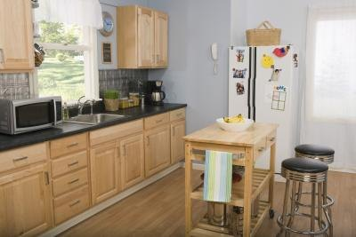 What Color Gray For My Kitchen With Golden Oak Cabinets