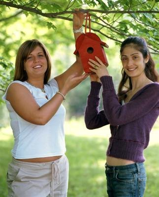 How to Hang Birdhouses With Rope