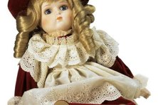 Victorian dolls add authenticity to a Victorian-themed nursery.