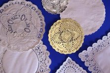 Doilies make creative home decor.