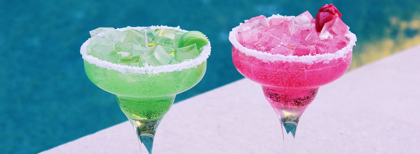 "DIY ""Margarita Glass"" Decorative Candles"