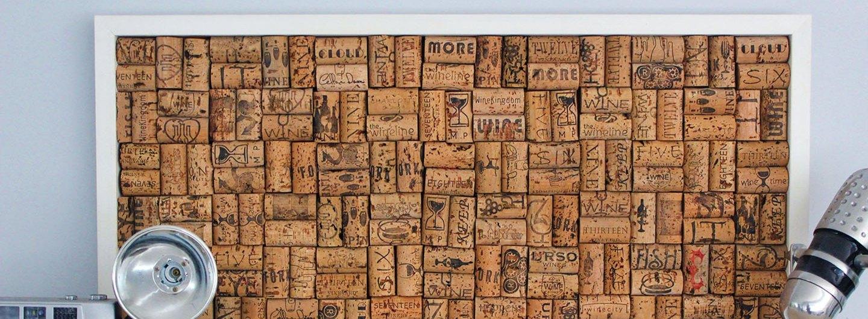 DIY Wine Cork Bulletin Board
