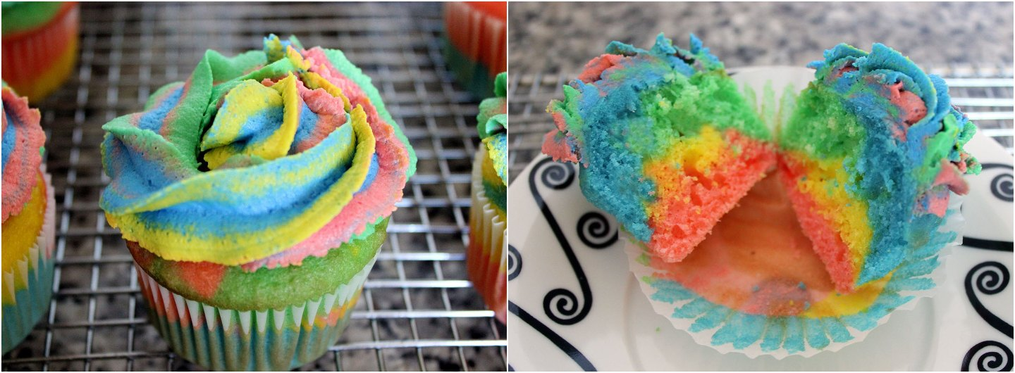 How to Make Tie Dye Cupcakes