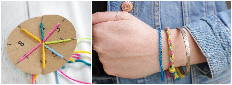 DIY Cardboard Loom Bracelet