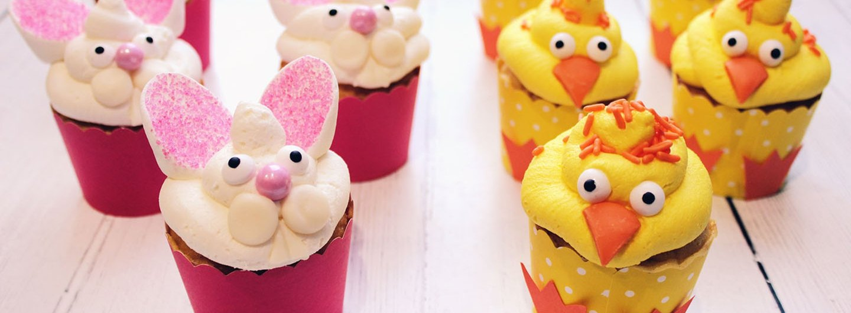 DIY Bunny & Chick Cupcakes