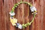 DIY Floral Hoop Wreath