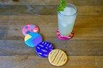 DIY Colorful Abstract Art Coasters