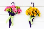 DIY Floral Umbrella Wreath