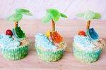 DIY Beach Cupcakes