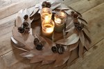 DIY Fall Wreath from Recycled Grocery Bags