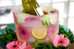 How to Make Your Own Frozen Fruit and Floral Ice Bucket