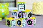 Baby Shower Decor: DIY Floral Baby Blocks