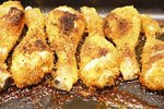 How to Bake Chicken Drumsticks With Bread Crumbs