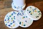 DIY Modern Terrazzo Coasters