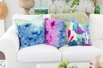 Try This Ice Dye Technique to Make Unique Pillows