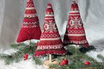 These Cute Holiday Trees are Made From Upcycled Sweaters