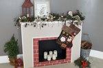 How to Make a Cardboard Christmas Fireplace
