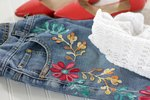 Floral Embroidery for Jeans Tutorial